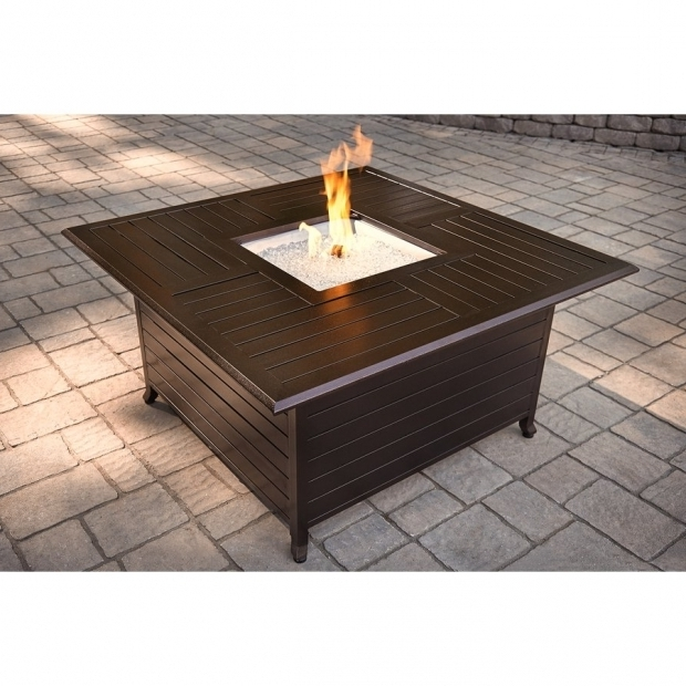 Amazing Garden Treasures Gas Fire Pit Garden Treasures 42000 Btu Liquid Propane Fire Pit Table At