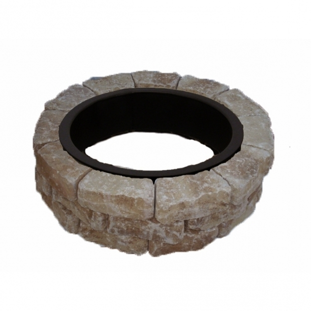 Awesome Fire Pit Kit Lowes Shop 435 In W X 435 In L Veranda Concrete Firepit Kit At Lowes