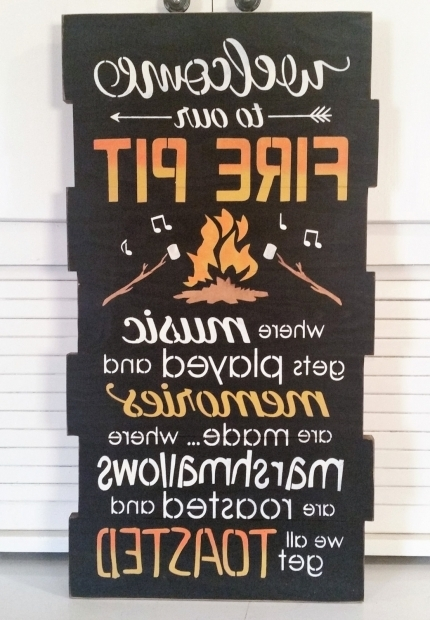 Awesome Fire Pit Signs Fire Pitcamp Fire Signs Thymes Of Old Primitives