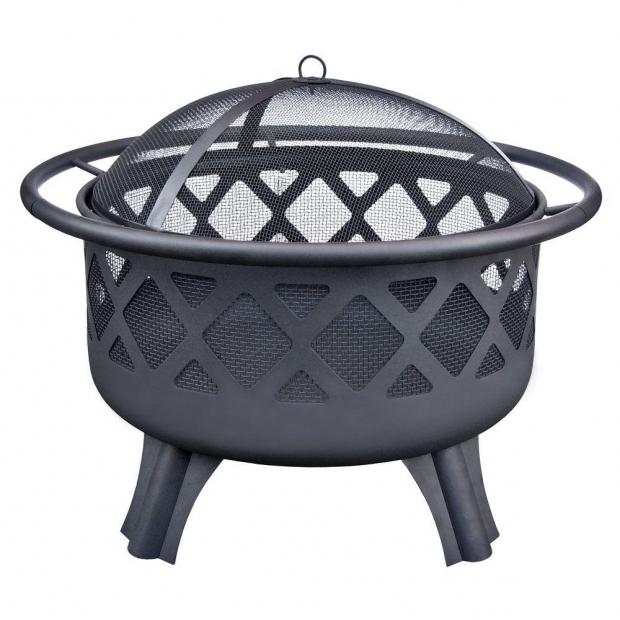 Awesome Outdoor Fire Pit Home Depot Hampton Bay Crossfire 2950 In Steel Fire Pit With Cooking Grate