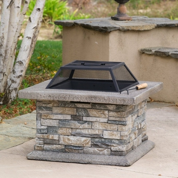Awesome Wood Burning Stone Fire Pit Shop Best Selling Home Decor 29 In W Natural Stone Cement Wood