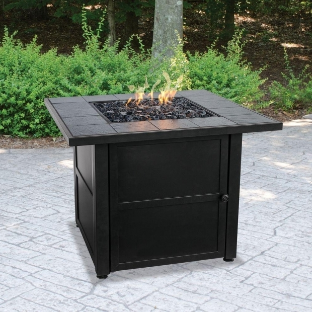 Beautiful Blue Rhino Fire Pits Uniflame Slate Tile Propane Gas Fire Pit Gad1399sp The Home Depot