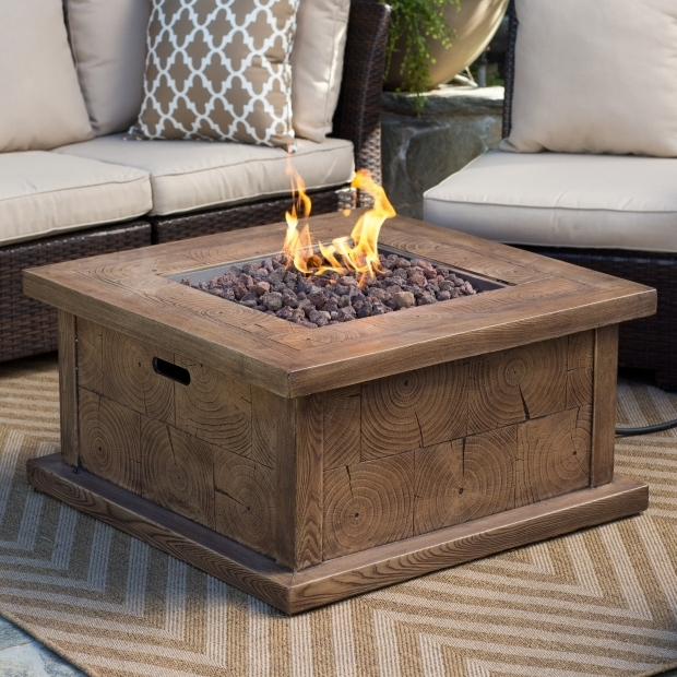 Beautiful Gas Fire Pit Tables Red Ember Timberline 35 In Gas Fire Pit Table With Free Cover