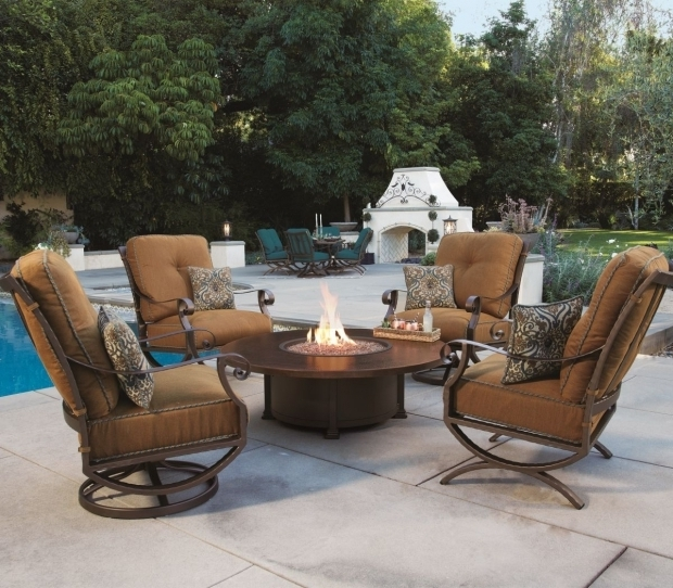 Beautiful Ow Lee Fire Pits Ow Lee 54 Round Occasional Height Santorini Fire Pit Outdoor