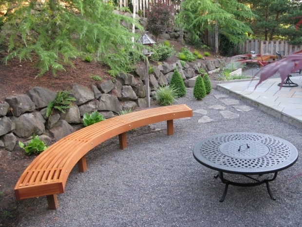 Delightful Curved Fire Pit Bench Curved Garden Bench From Cedar Laminations Gardens Fire Pits