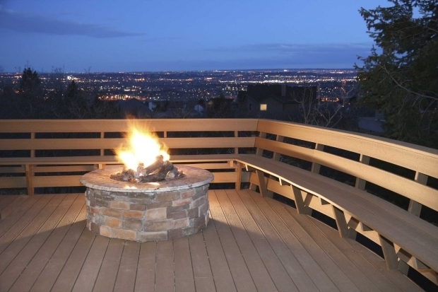 Delightful Gas Fire Pits For Decks Natural Gas Deck Fire Pit Deck Design And Ideas