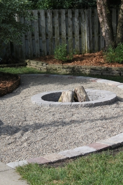 Delightful Gravel Fire Pit Area Pea Gravel Fire Pit We Already Have The Pea Gravel Area
