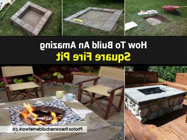 Delightful How To Build A Square Fire Pit Square Fire Pit