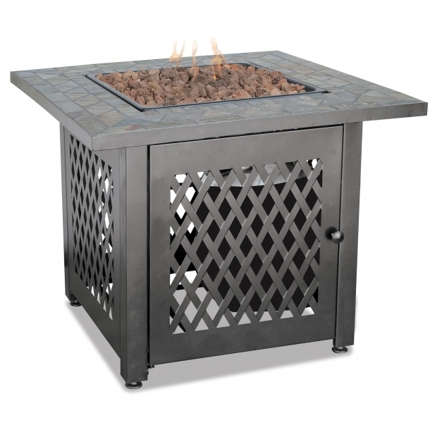 Fantastic Blue Rhino Fire Pits Blue Rhino Uniflame Slate Lp Gas Outdoor Fire Pit Table Reviews