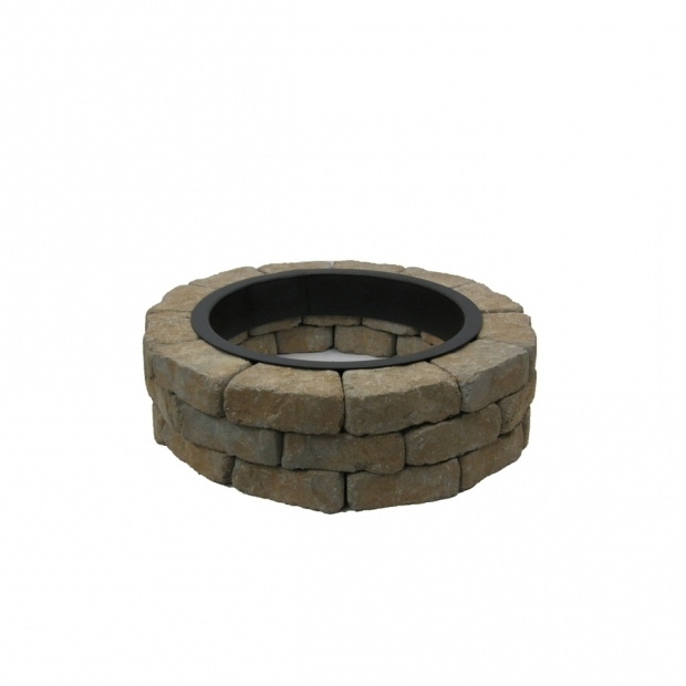 Fantastic Fire Pit Kit Lowes Shop Allen Roth Tangray Flagstone Fire Pit Patio Block Project
