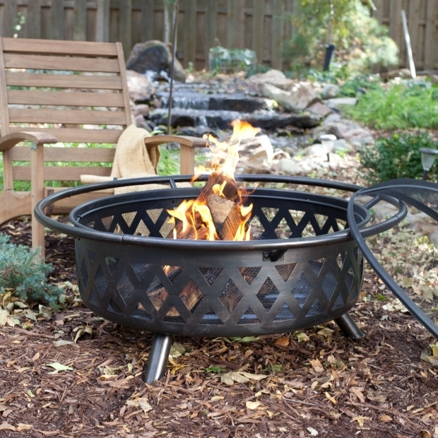 Fantastic Large Fire Pit Ring Red Ember Fire Pits Board Backyard Garden