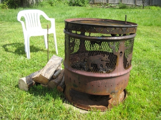 Metal Barrel Fire Pit