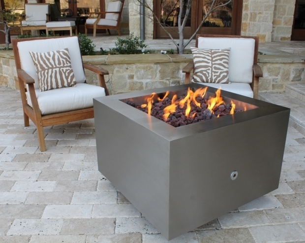 Fantastic Modern Propane Fire Pit Stainless Steel Fire Pit Gas Fire Pits Hidden Tank Fire Pits