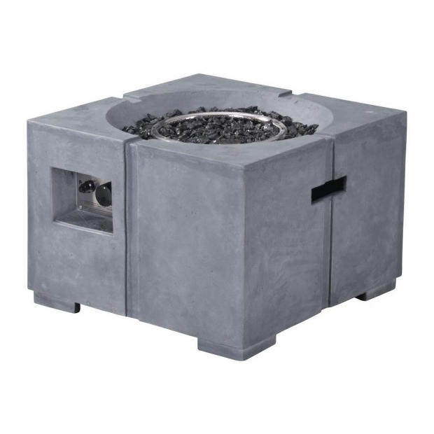 Fascinating Fire Pit Glass Home Depot Zuo Dante 238 In Fire Glass Rocks Propane Fire Pit In Gray