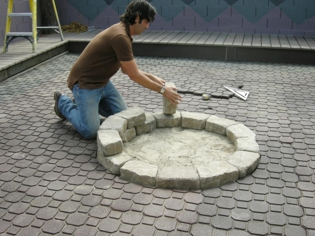 Fascinating How To Build A Fire Pit With Pavers How To Make A Backyard Fire Pit Hgtv