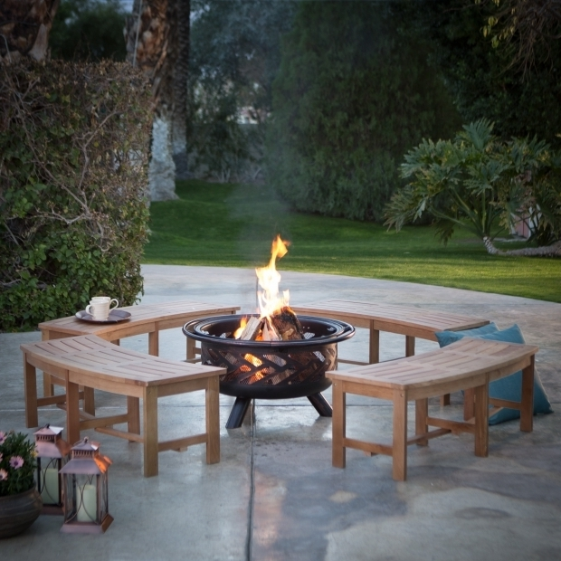 Gorgeous Curved Fire Pit Bench Curved Fire Pit Bench Teabiz