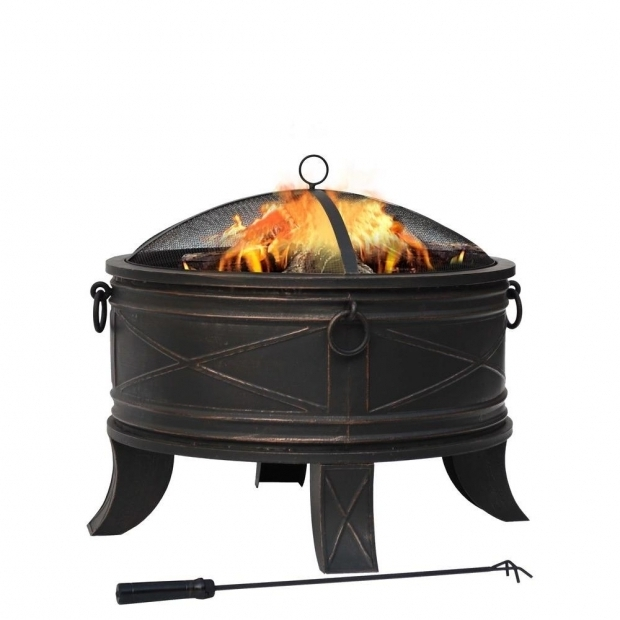 Gorgeous Outdoor Fire Pit Home Depot Hampton Bay Quadripod 26 In Round Fire Pit Ft 51161 The Home Depot