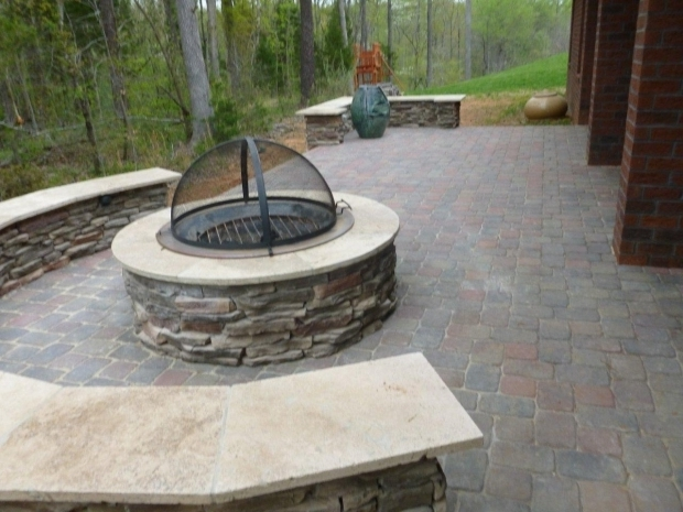 Gorgeous Wood Burning Stone Fire Pit Fire Pit Archadeck Of Charlotte