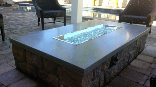Image of Glass Rock Fire Pit Outdoor Firepit Glass Furniture Decor Trend