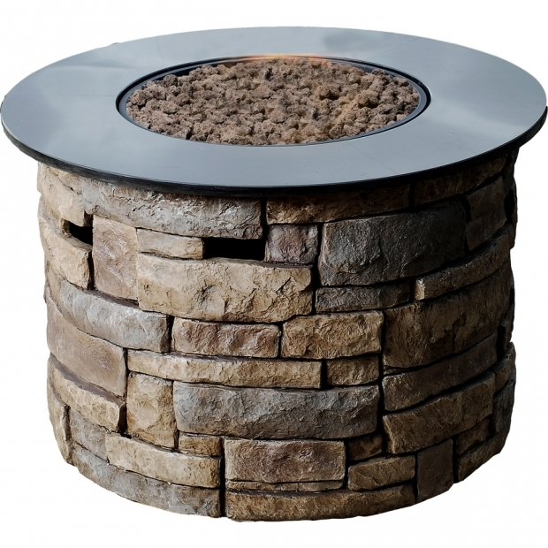 Image of Lowes Fire Pit Gas Shop Bond Canyon Ridge 366 In W 50000 Btu Brown Composite Liquid