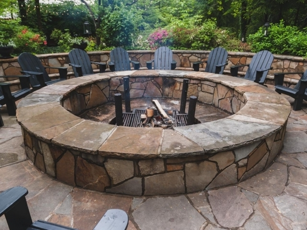 Incredible Large Fire Pit Ring Round Stone Fire Pit Fire Pits Pinterest