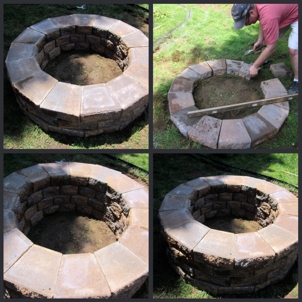 Inspiring Building A Fire Pit With Pavers Homeroad Building A Fire Pit