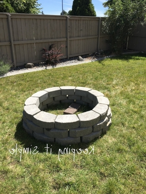 Inspiring Building A Fire Pit With Pavers Keeping It Simple How To Build A Diy Fire Pit For Only 60