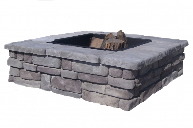 Inspiring Fire Pit Insert Square Square Fire Pit Kits Natural Concrete Products