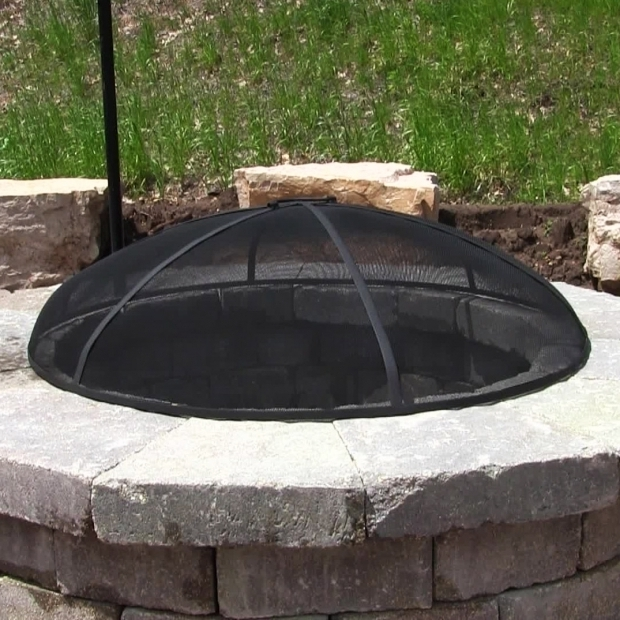 Inspiring Fire Pit Mesh Cover Sunnydaze Heavy Duty Fire Pit Spark Screen Steel Mesh Cover