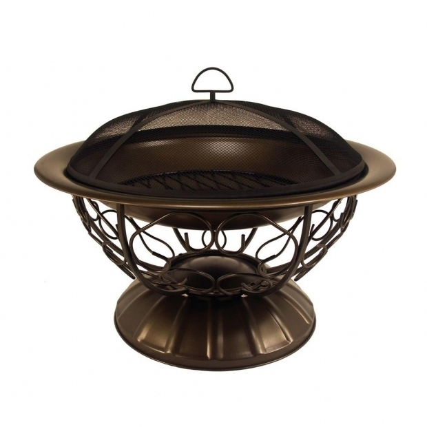 Inspiring Fire Pit Screens Home Depot Cobraco Cast Iron Copper Fire Pit Fb6132 The Home Depot