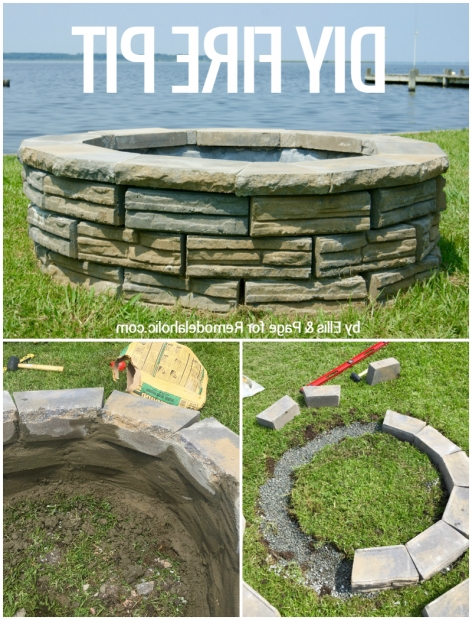 Inspiring Retaining Wall Block Fire Pit Remodelaholic Diy Retaining Wall Block Fire Pit