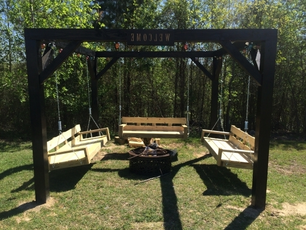 Inspiring Swing Set Fire Pit Ana White Fire Pit Swings Diy Projects
