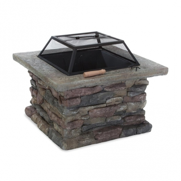 Inspiring Wood Burning Stone Fire Pit Shop Best Selling Home Decor 29 In W Natural Stone Iron Wood