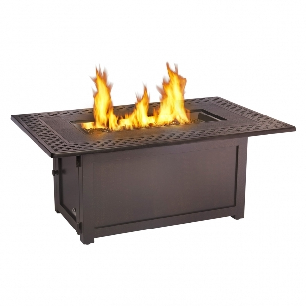 Marvelous Rectangular Gas Fire Pit Table Napoleon Victorian Rectangle Patioflame Gas Fire Pit Table Fire