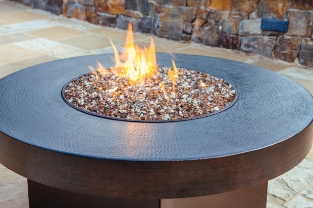 Outstanding Glass Rock Fire Pit Patio Round Fire Pit Table Near The Pool  With Glass Beads Ideas - Glass Rock Fire Pit - Fire Pit Ideas