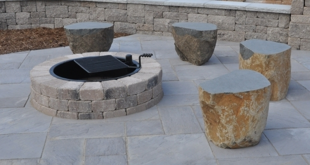 Outstanding Unilock Fire Pit Fire Pits Fire Ring Outdoor Fires Greenscapes Madison Wi