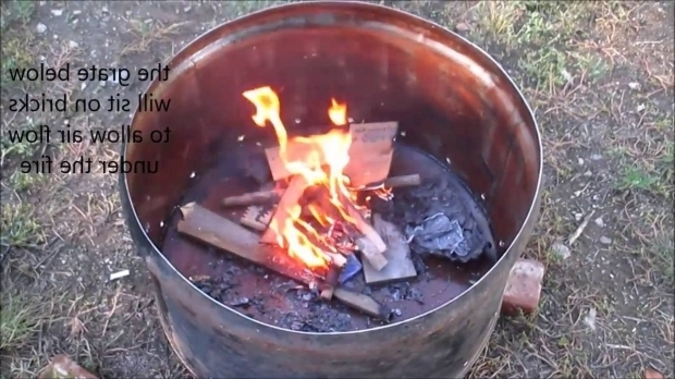 Picture of 55 Gallon Drum Fire Pit Quick 55 Gallon Drum Fire Pit Youtube