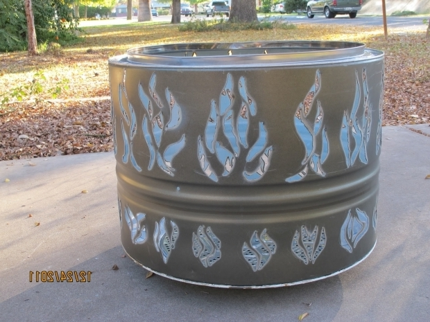 Picture of Dryer Drum Fire Pit Phoenix Fire Pit New Dryer Drum Firepit