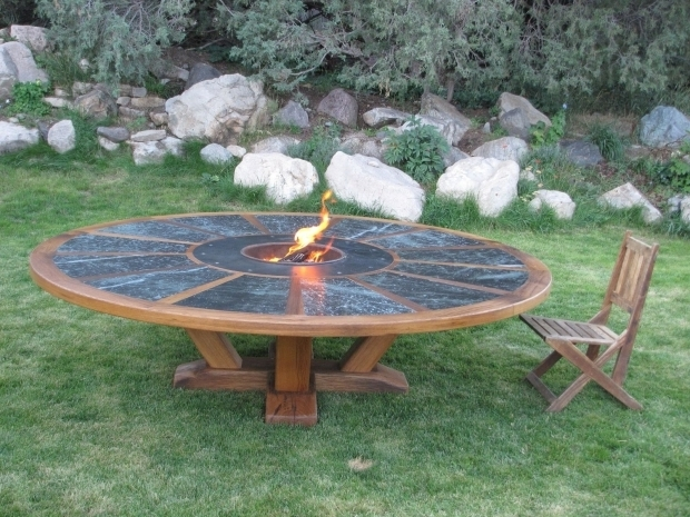 Picture of Handmade Fire Pit Hand Made 9 Round Table With Fire Pit In The Middle Coalcreek