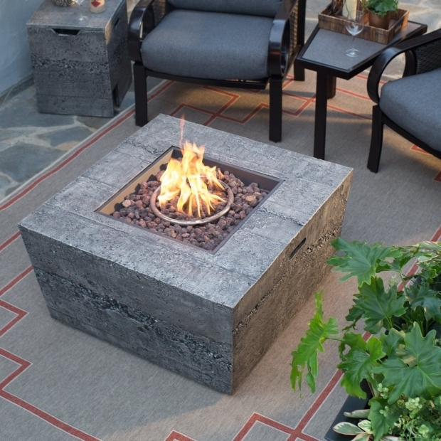Remarkable Gas Fire Pit Tables Red Ember Glacier Stone 35 In Square Gas Fire Pit Table With Free