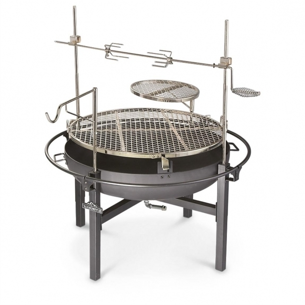 Stunning Fire Pit With Cooking Grate Cowboy Fire Pit Rotisserie Grill 282386 Stoves At Sportsmans