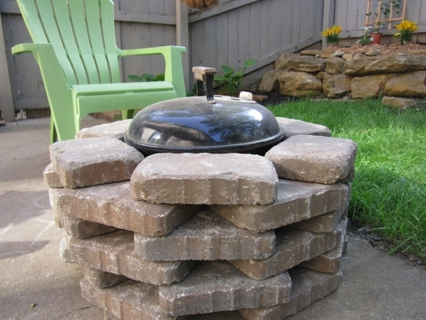 Stylish Grill Fire Pit Combo Diy Fire Pit We Placed Stone Around Our Simple Weber Grill To