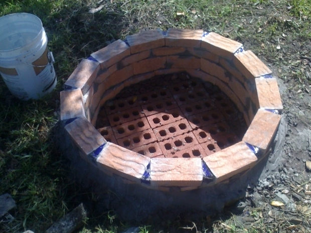 Stylish How To Build A Brick Fire Pit How To Build A Brick Fire Pit Without Mortar Fire Pits Pinterest
