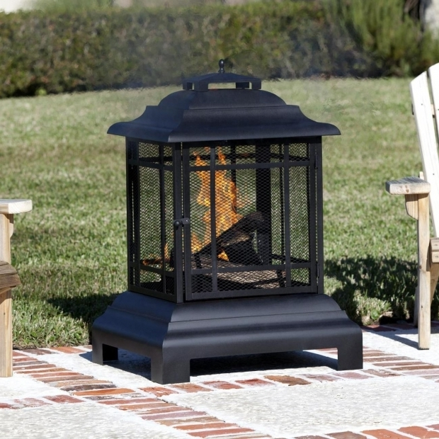 Stylish Pagoda Fire Pit Fire Sense Pagoda 24 Inch Wood Burning Fire Pit Black 2679