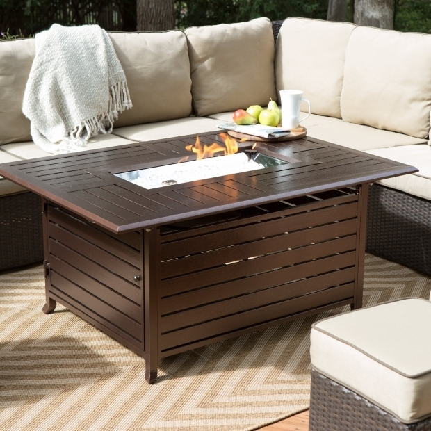 Stylish Rectangular Fire Pits Red Ember Longmont 50 X 38 In Rectangle Gas Fire Pit Walmart