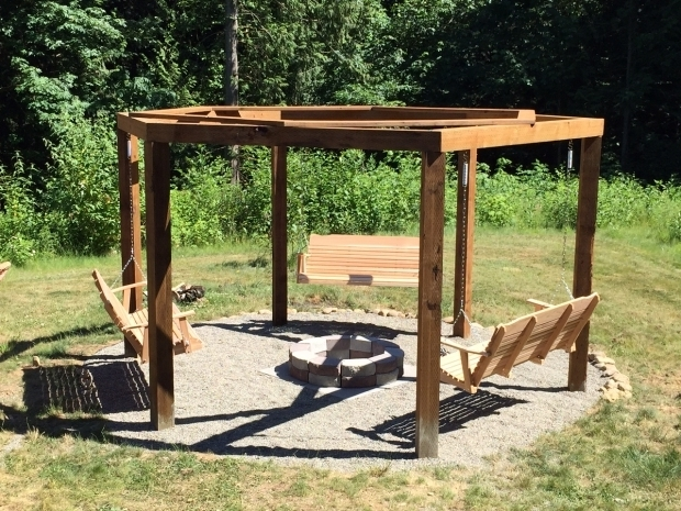 Stylish Swing Set Fire Pit We Built A Fire Pit Gazebo Swingset Album On Imgur