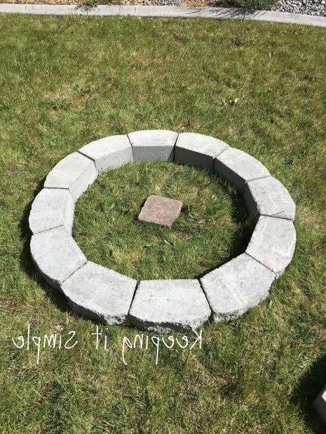 Wonderful Building A Fire Pit With Pavers Keeping It Simple How To Build A Diy Fire Pit For Only 60