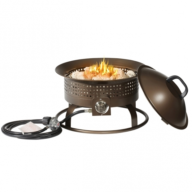Wonderful Garden Treasures Gas Fire Pit Shop Garden Treasures 185 In W 54000 Btu Bronze Portable Steel
