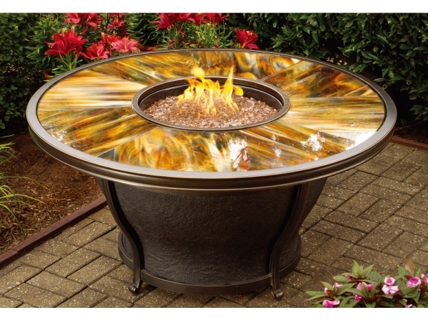 Wonderful Glass Beads For Fire Pits Patio Ideas Round Propane Fire Pits Table With Colorful Ceramic