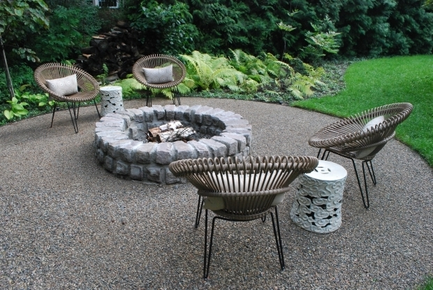 Wonderful Gravel Fire Pit Area Gravel Patio With Fire Pit